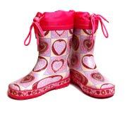Rubber knie-laarzen voor kinderen stock fotografie