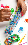 Rubber loom bracelet Royalty Free Stock Photography