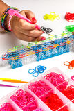 Rubber loom bracelet Royalty Free Stock Photo