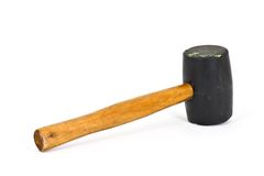 Rubber Mallet. Isolated on a white background Stock Images