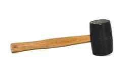 Rubber Mallet 2. A rubber mallet isolated on a white background Royalty Free Stock Photography
