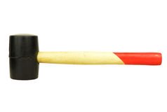 Rubber mallet with clipping path Stock Images