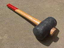 Rubber Mallet Head Royalty Free Stock Images