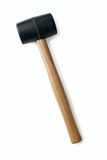 Rubber mallet with a wooden handle Royalty Free Stock Photos