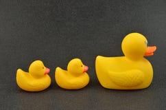 Rubber Mamma Duckie en Jonge geitjes Royalty-vrije Stock Foto's