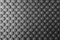 The rubber mats,the rubber mats. With the round pattern texture for anti slip.The round pattern texture on the rubber mats.Close-up of rubber mats texture with Royalty Free Stock Photo