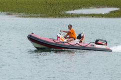 Rubber Motor Boat Stock Images