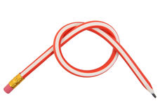 Rubber pencil. Tied in knot Royalty Free Stock Image