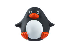 Rubber penguin isolated on white Royalty Free Stock Images
