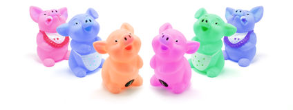 Rubber Pigs Royalty Free Stock Photo