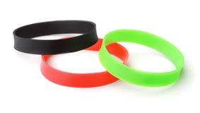 Rubber  promo bracelets Stock Photography