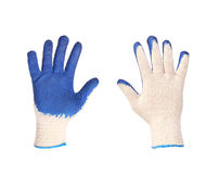 Rubber protective blue gloves Royalty Free Stock Photography