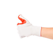 Rubber protective glove. Royalty Free Stock Photography