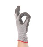 Rubber protective glove shows sign ok. Stock Image