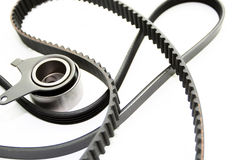 Rubber PV, gear belts and rollers Stock Images