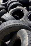 Rubber Refuse. Close-up Image Of Used Rubber Tyres Piled In A Scrap Heap Royalty Free Stock Image