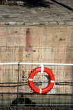 Rubber ring on a boat Stock Photo