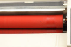 Rubber rollers of laminating machines. Macro stock photography