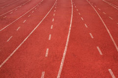 Rubber running track. Lane texture Royalty Free Stock Photos