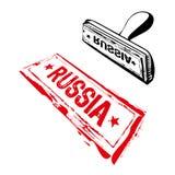 rubber russia stämpel royaltyfri illustrationer