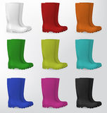 Rubber safety boots Stock Photos