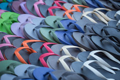 Rubber sandal for sale at the market. Royalty Free Stock Image