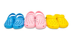 Rubber sandals Stock Images