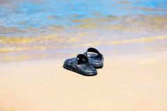 Rubber sandals Stock Photos