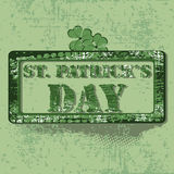 Rubber satmp with ornaments for St. Patrick's Day Royalty Free Stock Images