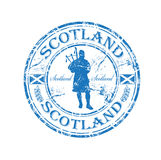 rubber scotland stämpel Arkivbild
