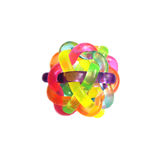 Rubber sensory ball of bright color Royalty Free Stock Photography