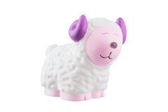 Rubber sheep isolated on white Stock Image