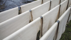 Rubber sheet hang on the rack Royalty Free Stock Images