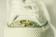 Rubber Shoe Engagement Stock Images