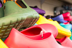 Rubber shoes Stock Image