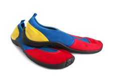 Rubber shoes for sea Royalty Free Stock Image