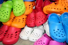 Free Rubber Slipper Shoes Royalty Free Stock Images - 4163049
