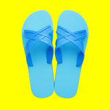 Rubber slippers Royalty Free Stock Photo
