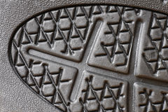 Rubber sole close up. Black rubber sole close up, macro detail royalty free stock photo