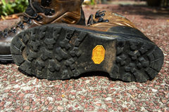 Rubber soles. Of hiking boots Royalty Free Stock Photography