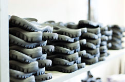 Rubber soles for footwear manufacturing Stock Photos