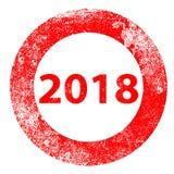 Rubber stämpel 2018 Vektor Illustrationer