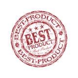 rubber stämpel för bäst produkt Arkivfoto