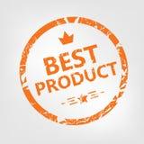 Rubber stämpel för bäst produkt Arkivbild