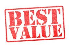 Rubber stämpel för bästa värde Fotografering för Bildbyråer