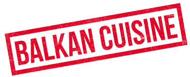 Rubber stämpel för Balkan kokkonst royaltyfri illustrationer