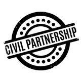 Rubber stämpel för borgerligt partnerskap vektor illustrationer
