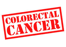 Rubber stämpel för COLORECTAL CANCER vektor illustrationer