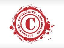rubber stämpel för copyright Arkivbilder