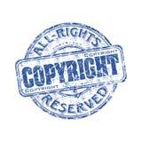 rubber stämpel för copyright-grunge Arkivbild